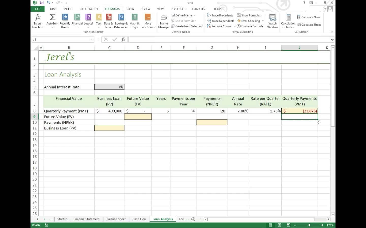 Financial Plan Model Excel