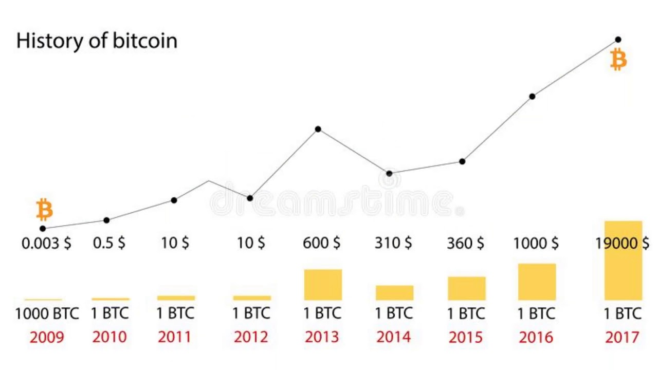chart of bitcoins value year by year