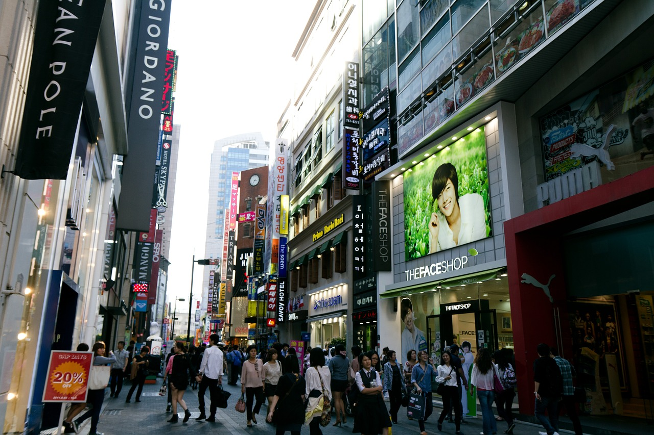 myeongdong shopping district
