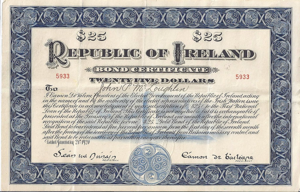 old bond certificate - types of investment